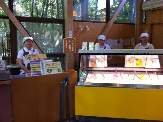 Furano Cheese Craft Center: the ice cream shop