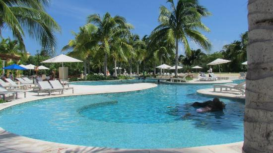 "Hacienda Tres Ríos: view of adult pool area from our ""usual chairs"""