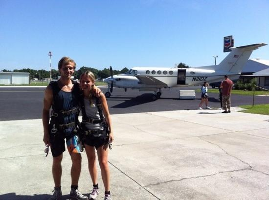 Skydive Space Center : jag och min pojkvän