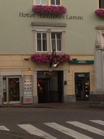 Hotel Goldenes Lamm: ingresso