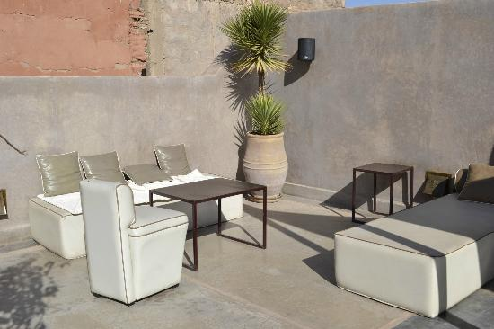Riad Dar One: Dachterrasse Lounge Area