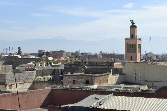 Riad Dar One: Aussicht von der Dachterrasse