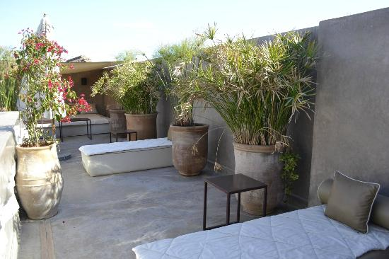 Riad Dar One: Dachterrase Lounge Area