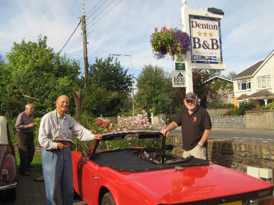 Denton B & B : Some veteran car buffs were sharing delightful stories