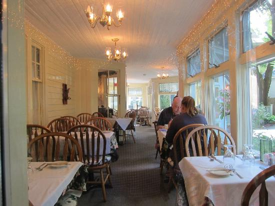 The Village Inn Bed and Breakfast: View of Restaurant Dining Area - Porch