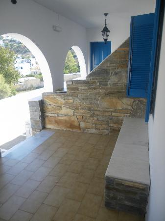 Hotel Poseidon : terraza de habitación