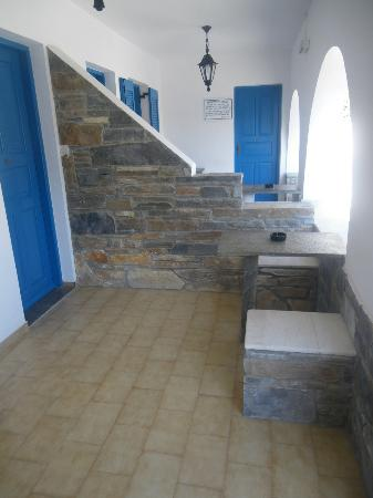 Hotel Poseidon : terraza de la habitación