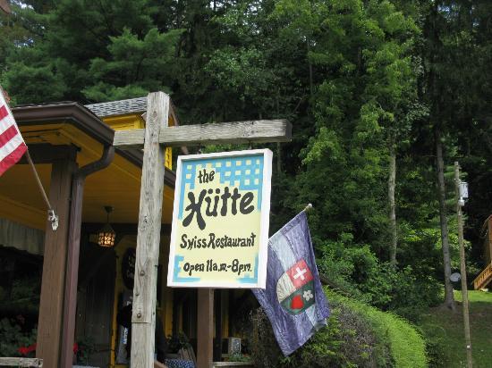 Helvetia Hutte Restaurant: sign