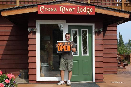 Cross River Lodge: He also loved the sign on your lodge door.
