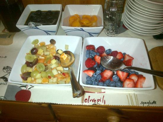 Bron Menai Guest House: Breakfast fruit buffet