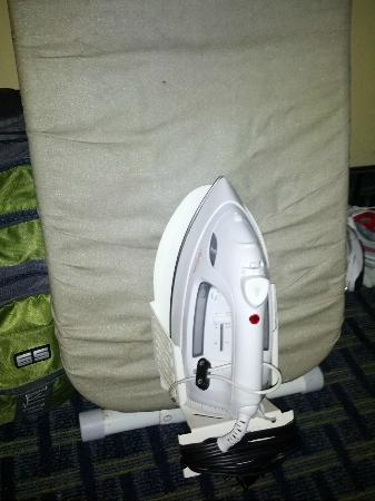 Quality Inn & Suites Oceanfront: Iron nailed to ironing board