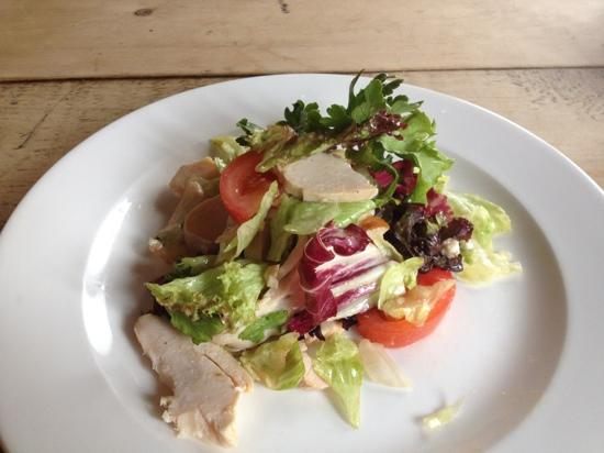 Cow and Plough: chicken and bacon salad