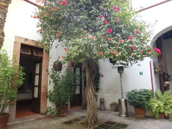 Hotel Villa del Villar: Patio y habitacion del Hotel Villas del Villar