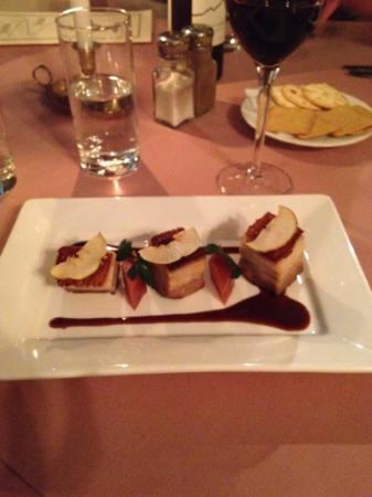 Roaring Megs Restaurant : pork belly entree