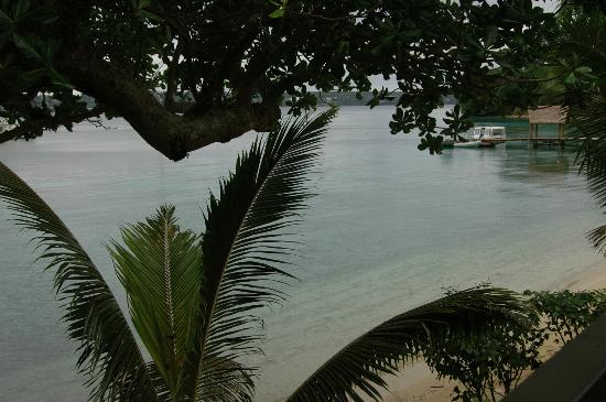 Aore Island Resort: View from our bungalow verandah