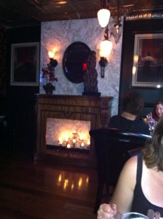 Tredici Steak: fireplace