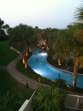 Destin West Beach and Bay Resort: lazy river on bay side