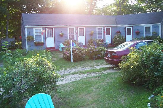 Beach Plum Motor Lodge: cottages and garden at Gloria's