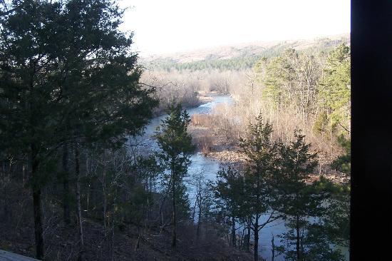 Eagle Creek Escape Guest Cottages: View from deck of Eagles Nest