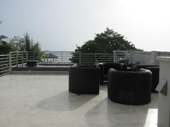 Xbalanque Resort: view from 2nd level patio 