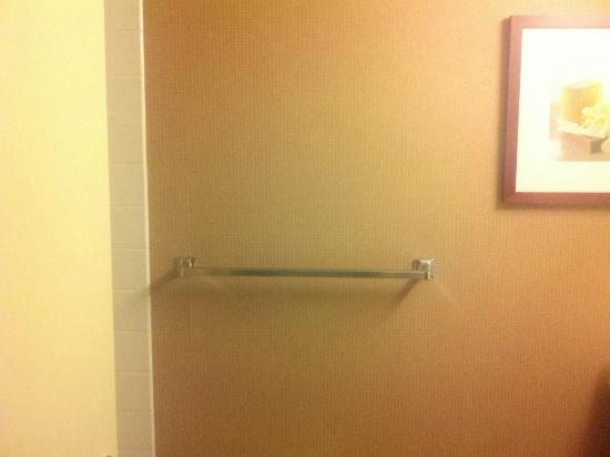 Holiday Inn Orangeburg - Rockland / Bergen: This picture is what I saw when I went to the bathroom... No towels!