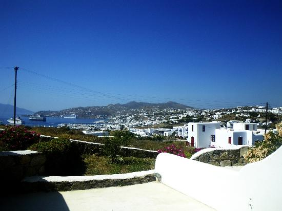 Tharroe of Mykonos Hotel: view from our room