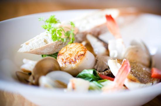Fish: Fresh Seafood Bouillabaisse in Coconut Lemongrass Broth