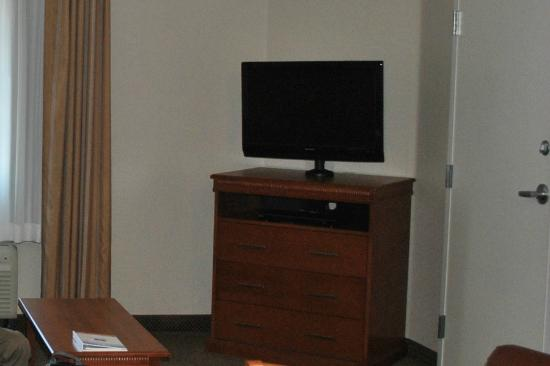 Candlewood Suites Gillette: Just part of the living room - cropped out the teenager!