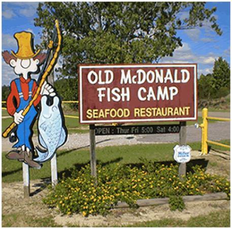 Old mcdonald fish camp north augusta menu prices for Fish camp menu