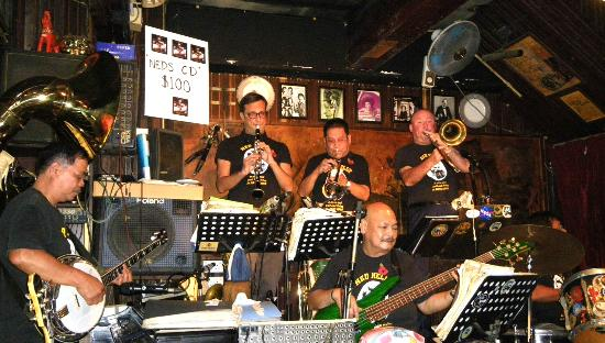 Ned Kelly's Last Stand: The band in action at Neds.