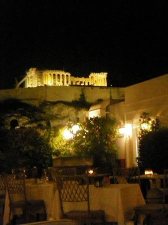Divani Palace Acropolis: view from the rooftop restaurant