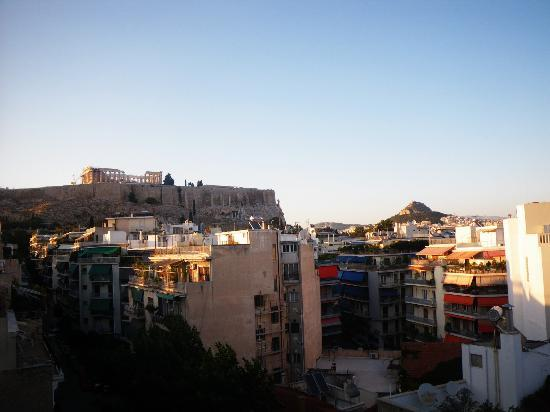 Divani Palace Acropolis: view of the Acropolis from our room during the day