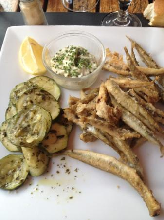 Le Bouchon d'Honfleur: Friture de poisson et courgettes