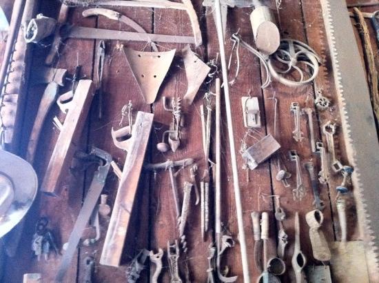 Rancho La Patera & Stow House: tools...