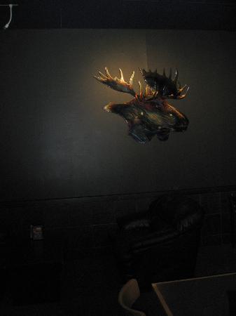 The Blue Moose - the moose itself!