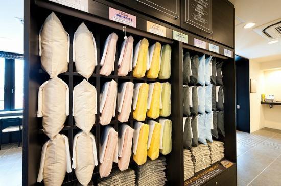Super Hotel Asahikawa: 枕コーナー