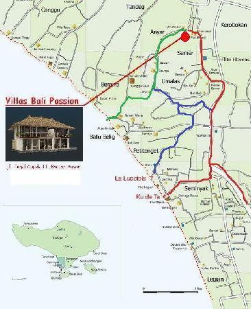 Villa Marene Bali: exact location