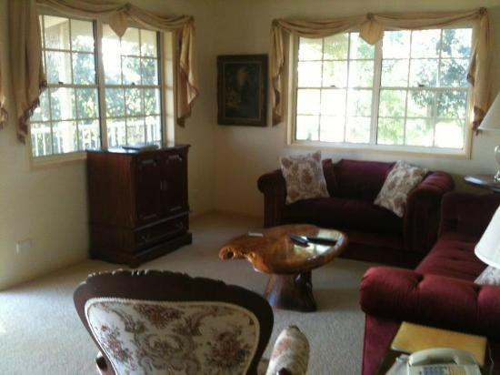 Cooroy Country Cottages: Cosy lounge room, very comfy couch