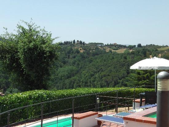 Borgo La Casaccia: vue depuis la piscine