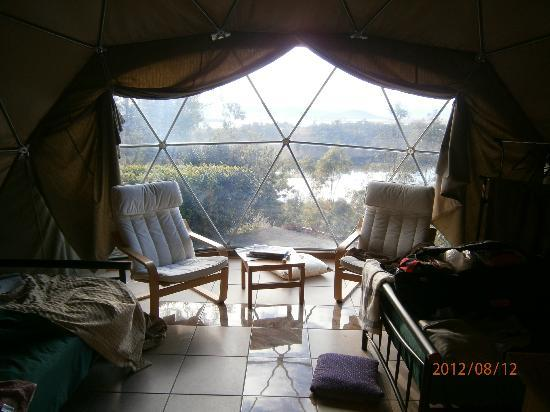 Weltevreden Domes Retreat: inside the dome