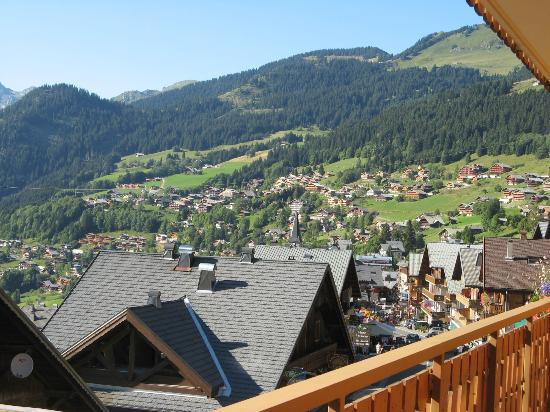 B&B Le Choucas: La vue du balcon