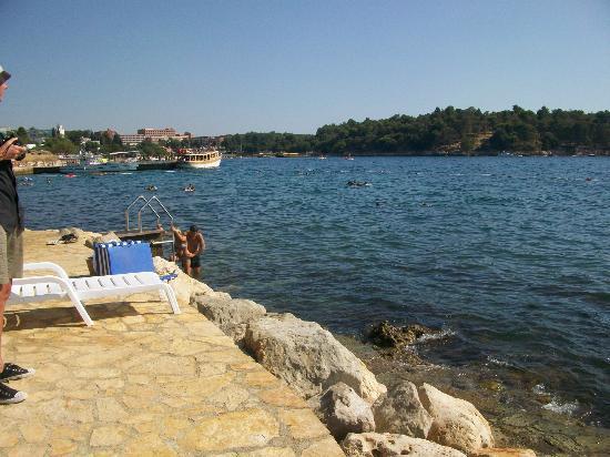 Hotel Laguna Parentium: Hotelstrand