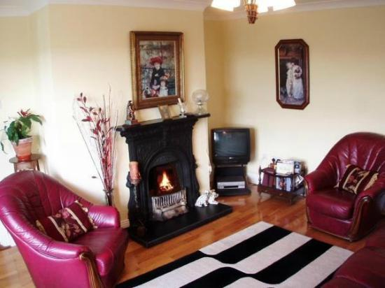 Nolan's B&B: Guest Lounge with open fire place