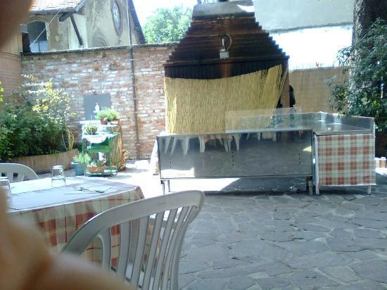 Angolo barbecue chiuso a mezzogiorno foto di il giardino - Angolo barbecue in giardino ...