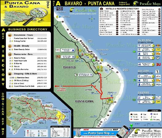 Punta Cana Resorts Map Punta Cana Map & detailed Punta Cana Resort Map   Picture of Punta