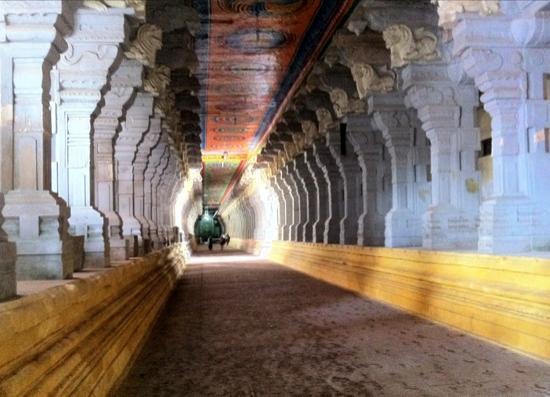 Ramanathaswamy Temple : the beautiful corridor with 1200 pillars