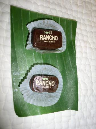 Rancho Pescadero: An evening treat left on our bed