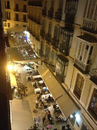 Hotel Molina Lario: View from room of Calle de la Bolsa