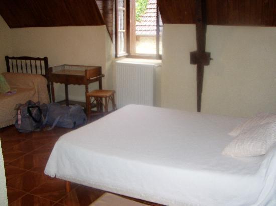 Chambres de Pech Mortier : lit 1 personne dans le fond