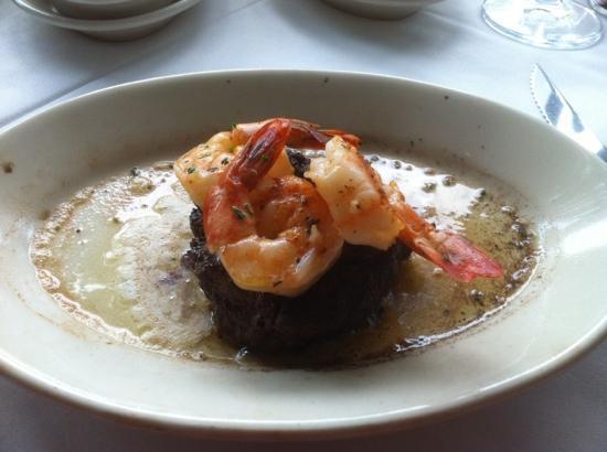 Ruth's Chris Steak House - Providence: Filet and Shrimp